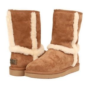 UGG Australia Chestnut Fur Trim Boots 100583